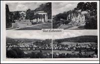 BAD LIEBENSTEIN Thüringen 1957 DDR Kleinformat Postkarte 4 schöne s/w Ansichten