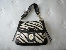 COACH Zebra Haircalf Legacy Slim Flap w/ Kisslock Coin Purse Hobo Bag Purse RARE