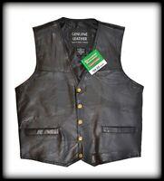 Gilet en cuir sans manche - S M L XL 2XL 3XL 4XL 5XL 6XL 7XL - Leather vest NEUF