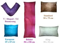 Silk Pillowcase Cover Pillow Slip Standard /Bolster /V-Shaped / King / European