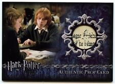 Harry Potter Goblet of Fire Prop Card The Daily Prophet Ci3 Artbox Card #418/455