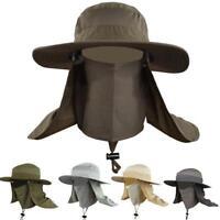 Outdoor Unisex Brim Sun Block Quick Drying Fishing Sun Cap Climbing Bucket Hat Q