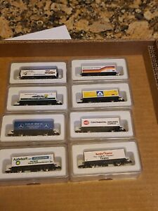 Marklin Z-scale   freight cars lot of 8 with boxes