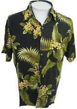 Studio 35  Men Hawaiian ALOHA shirt pit to pit 22.5 M floral camp luau tiki bar