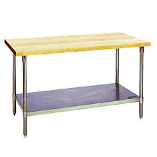 Eagle Group Mt2448B, 24x48-Inch Hardwood Baker's Table with Flat Top, Galvanized