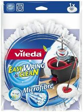 Vileda Easy Wring and Clean Microfibre Mop Refill Head Optimal Absorbent