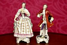 A Pair of Vintage German Rudolpf Kammer of Volkstedt Porcelain Figurines