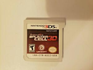 Tom Clancy's Splinter Cell 3D (Nintendo 3DS, 2011) cartridge only very good