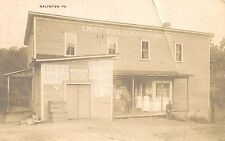 Crist Brothers General Merchandise Store Ralphton PA RP Postcard 1913