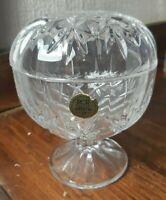 RCR Royal Crystal Rock Bonbon Dish with lid 4 Inches Diameter 5 Inches High A16b