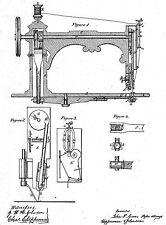 Alte/Antike Nähmaschine - Geschichte : 2200 Dokumente bis 1874 (Singer,Blake..)