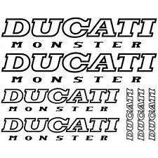 Kit Stickers Autocollants Moto -  Ducati monster Réf.MOTO-020