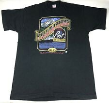 Fruit Of The Loom Vintage Yellowstone Trading Post Black T shirt Single Stitch
