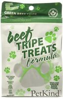 PetKind Green Beef Tripe Grain Free Treats for Dogs, 6 Oz Cleaner Teeth