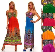 Full Length Paisley Polyester Maxi Dresses for Women