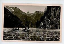 Spiegeleis am Konigssee ICE SLEDS Racing RPPC Vintage Photo—Winter AK