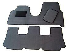 Passform-Velours-Fußmatten für Peugeot 807 hochwertige Autoteppiche in grau