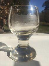 New listing Rare Antique Bohemian German Handmade Etched Glass Goblet Heidelberg Castle