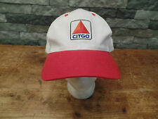 Vintage Citgo Hat Cap Gasoline Oil Petro White/Red Snapback Very Nice!