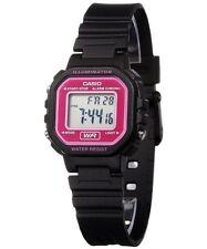 Casio LA20WH-4A Ladies Petit Square Black Pink Digital Sports Watch W/ Led Light