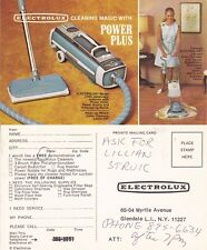1960's ELECTROLUX HOOVER / POLISHER UNUSED ADVERTISING COLOUR POSTCARD