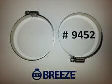 2 Breeze Hose Liner Clamps 9452 All Stainless Steel 2 13/16- 3 3/4 Silicone 95mm
