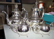 Beautiful Oneida 4 Piece Silver Coffee and Tea Set In Excellent Shine Condition