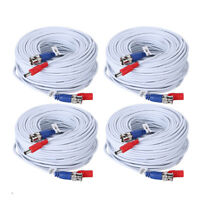 ANNKE 25/50/60/100ft Security Camera Video DC Power Cable BNC DVR Extension Cord
