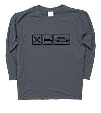 Mens Eat Sleep Triumph Dolomite Sprint Long Sleeve T-Shirt S - 3XL