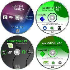 ubuntu, xubuntu, Linux Mint 19, OpenSUSE,  DVD Paket  64 bit Betriebssysteme