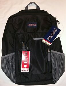 """JanSport Impulse Black Triangle New With Tags NWT 17"""" laptop compartment, tablet"""