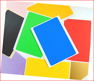 """Large 99x65mm 4"""" x 2.6"""" Rectangular Coloured Sticky Labels, Colour Code Stickers"""