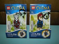 Lego Legends Of Chima Wolf & Laval LED Lite Keychains Lot of 2