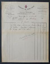 Facture LYON 1906 LIBRAIRIE DU SACRE-COEUR missel paroissien illustrée 52