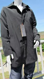 NEW L TUMI T-TECH black car coat removable liner water resistant jacket classic