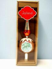 "New Christmas 11/25"" Joyland Silver Glass Tree Topper from Belk"