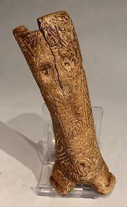 Taino. 2 Figures. Fully Engraved Cemi. PreColumbian