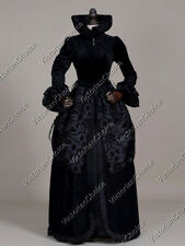 Black Renaissance Queen Velvet Game of Thrones Dress Witch Halloween Costume 331