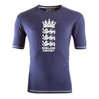 ECB England Cricket Mens Large Logo T-Shirt | Navy | 2019