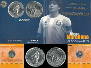 Maradona Diego Coin 40th Anniversary New From Argentina Discontinued