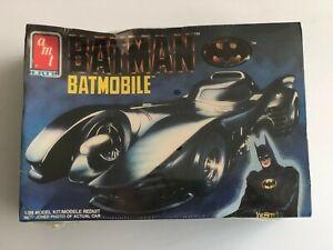 Vintage amt ERTL Batman 1989 1/25 Scale Batmobile Plastic Model Kit (NIB)
