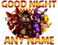 "5 NIGHTS AT FREDDY'S Personalized PILLOWCASE ""GOOD NIGHT"" Any NAME Great Gift"