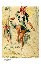 Pin Up Girl Poster 11x17 Artist Sketch Illustration Legs Lingerie Cute Retro