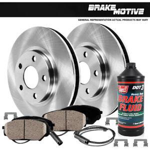 For Mercedes Benz C300 C350 E350 Front Solid Disc Brake Rotors & Ceramic Pads