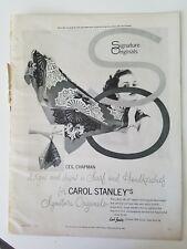 1953 Ceil Chapman design for Carol Stanley signature Originals women's scarf ad