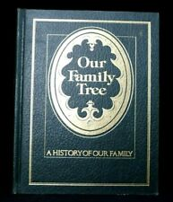 Our Family Tree 'A History Of Our Family' NEW Hard Cover Green Book Vintage 1977