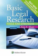 Aspen Coursebook: Basic Legal Research by Amy E. Sloan Sixth Edition