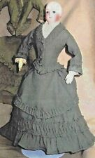 1875 Riding Suit Pattern  for 15-inch and Fashion Dolls Gene Alex