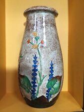 Crown Ducal Art Deco vase with raised nasturtium flowers and foliage