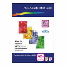 50 Sheets of Single-sided A4 230gsm High Quality Matte Photo Paper for Inkjet